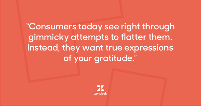 Customer appreciation quote