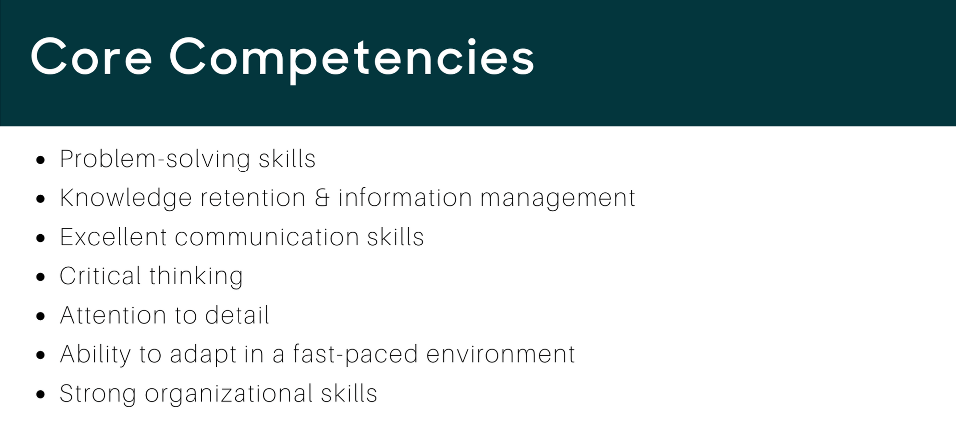 Call Center Resume Core Competencies