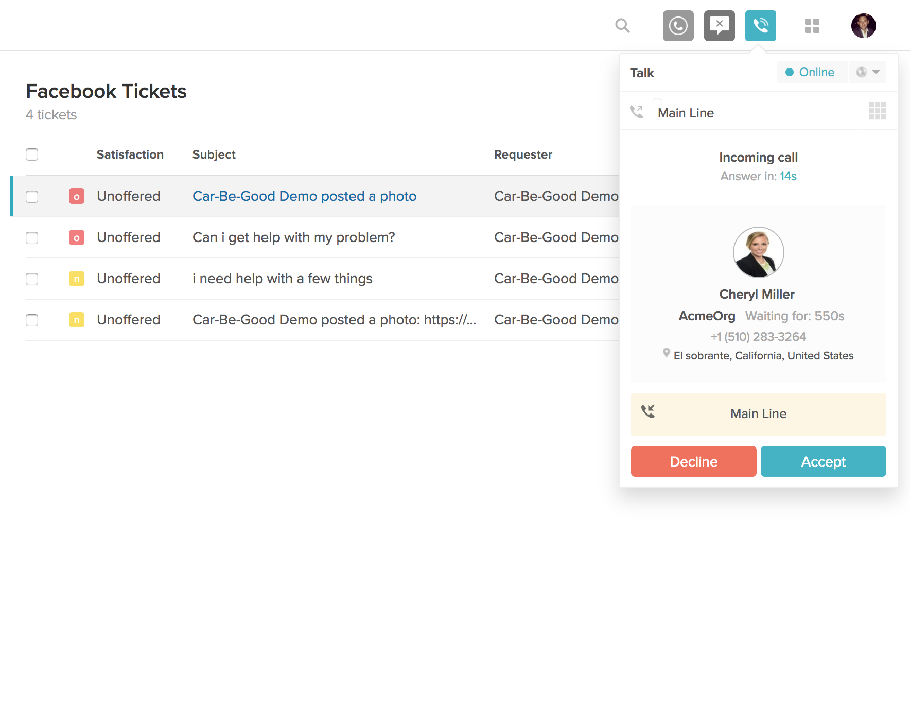 Automatic ticket creation