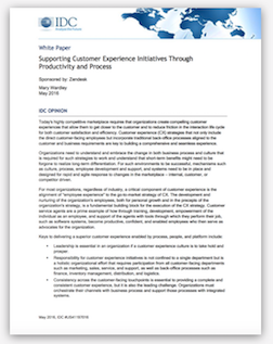 IDC: Supporting Customer Experience Initiatives
